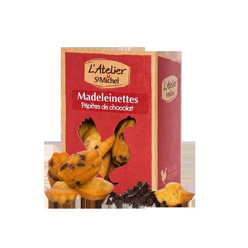 madeleinettes aux p pites de chocolat atelier st michel. Black Bedroom Furniture Sets. Home Design Ideas