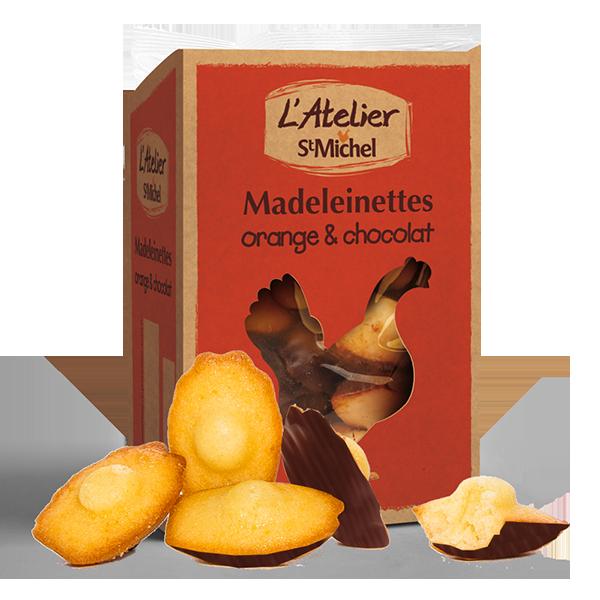 Madeleinettes orange chocolat Atelier St Michel - 150g