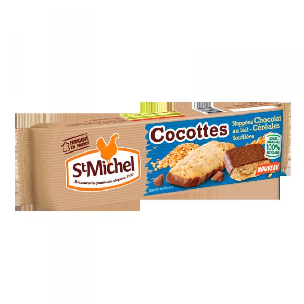 Cocottes nappées chocolat au lait St Michel