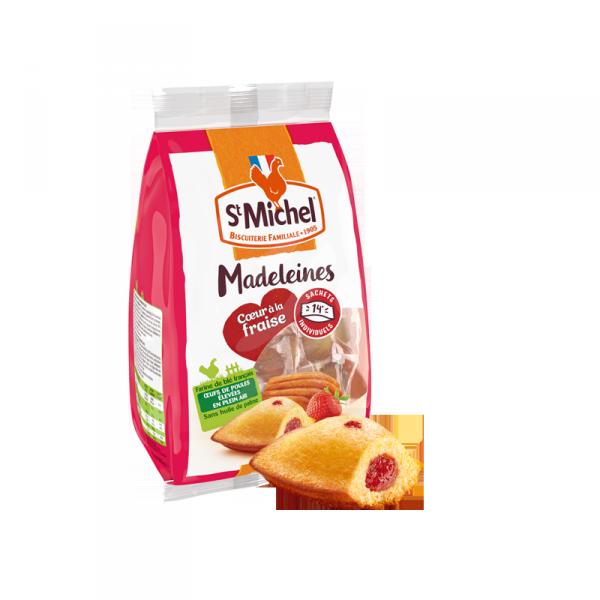 Madeleine coeur fraise