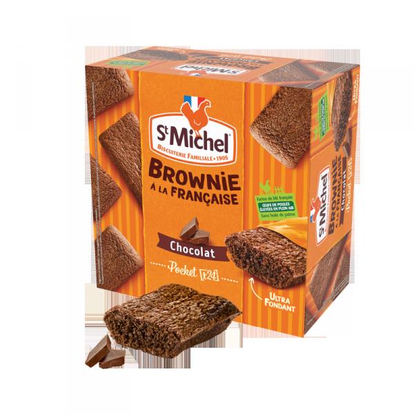 Boite brownie individuel chocolat STM X24
